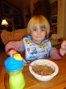 The WeeLaddie loves BEST Lentil Soup!