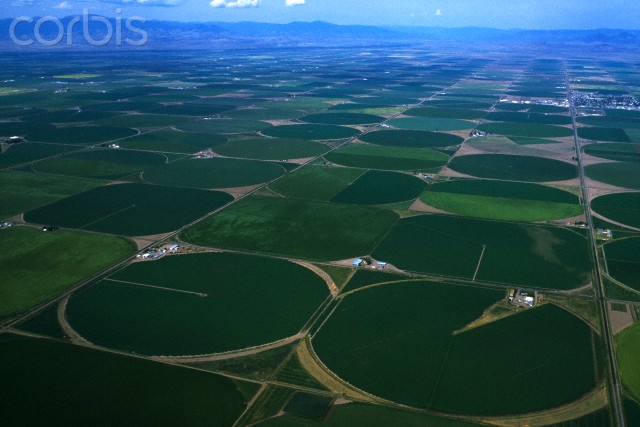 Center Pivot Irrigation circles. source