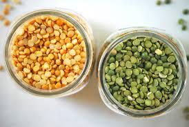 Green and Yellow Split Peas source