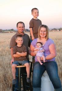 Farmer Neil Durrant and his lovely family
