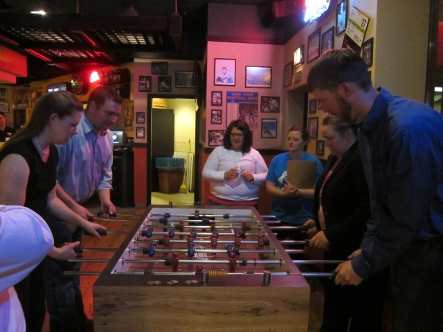 Foosball is serious business, people!
