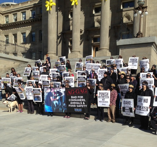 Ag Security Bill protestors at the Idaho State Capitol  Photo source
