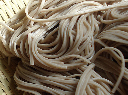 Japanese buckwheat soba noodles Photo source