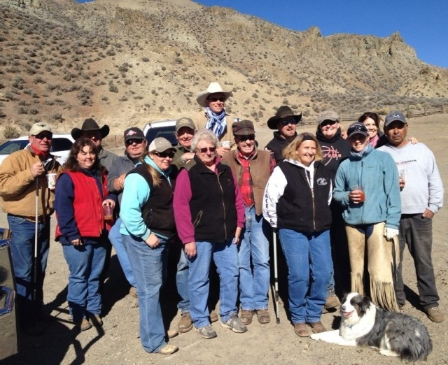 The Baker Family after shipping cattle - 2013