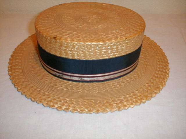 Vintage straw hat from the 1920's.